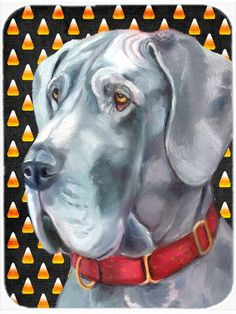 Great Dane Candy Corn Halloween Mouse Pad, Hot Pad or Trivet LH9549MP