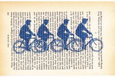 Bicycle Men_Antique Book Prints by Amy Lauren Creations...Upcycle Gift Boutique on hellopretty.co.za