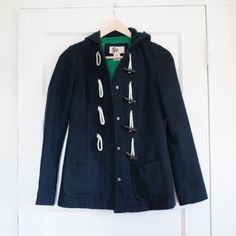 Navy Toggle Peacoat Purchased from Kohls, this coat has been one of my favorites, but I've outgrown it. It is very small-do not purchase if you do not wear a true XS. Is very tight on me in the arms and shoulders. Is a coat, but not lined so in the colder months I always layered with a chunky sweater! SO Jackets & Coats Pea Coats