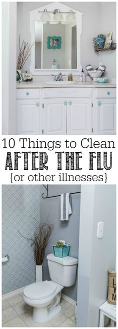 10 things to clean after your family has the flu or cold. Must read!!