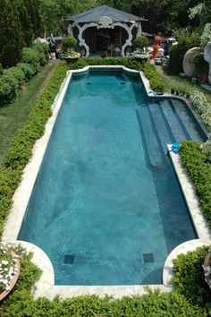 Ryan Gainey – Woody Haus – East Hampton, New York - Garten Pool ideen Luxury Swimming Pools, Luxury Pools, Dream Pools, Inground Pool Designs, Swimming Pool Designs, Spas, Pool Landscaping, Landscaping Equipment, Backyard Pools