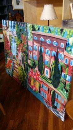 paintings set of 2, $40.00