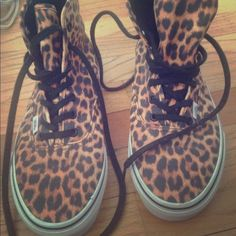 High top cheetah vans High top cheetah vans, worn once to a family event 9.5/ 10 condition as shown. Vans Shoes Sneakers