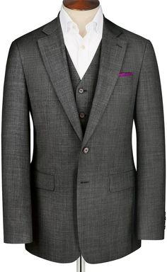 Grey Apsley sharkskin Classic fit business suit jacket