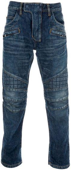 203a04b4 BALMAIN Slim Fit Jeans - Lyst Old Jeans, Men's Jeans, Denim Branding,  Balmain
