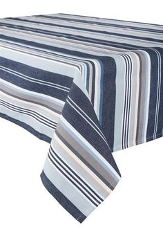 Harmony - Nappe anti tâches basque à rayures Bayadere Hossegor - 100% coton… Geometric Pattern Design, Textiles, Basque Country, Dish Towels, Pantone, Blue Grey, Farmhouse Decor, Living Room Decor, Hand Weaving