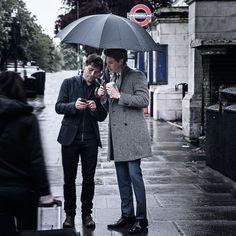 BTS from the Eddie Redmayne shoot. Photo by David Jaffe.