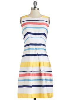 Rhyme or Ribbon Dress   Mod Retro Vintage Dresses   ModCloth.com