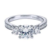 Three stone rings such as this Victorian style are sassy, classy and chic.