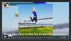 How to take the perfect #jumpstagram on Instagram #phototips
