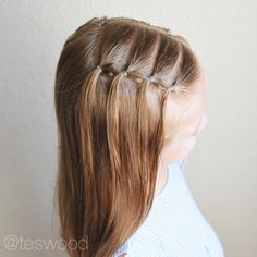 Love this waterfall elastic style inspired by @brownhairedbliss #qshairdos