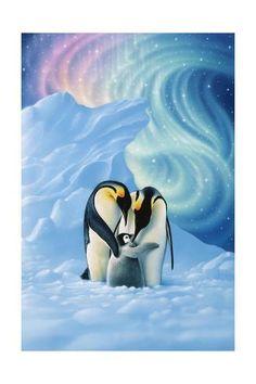 Trademark Fine Art 'Dear Little One' Canvas Art by Kirk Reinert, Size: 30 x 47 Penguin Art, Penguin Love, Penguin Tattoo, Pinguin Drawing, Pinguin Illustration, Animal Drawings, Art Drawings, Drawing Animals, Artist Canvas