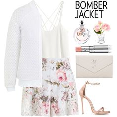 Bomber Jacket by rever-de-paris on Polyvore featuring мода, H&M…