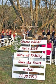 rustic white wedding signs / http://www.deerpearlflowers.com/30-rustic-wedding-signs-ideas-for-weddings/2/