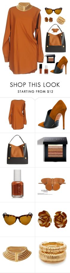 """""""Untitled #2351"""" by ebramos ❤ liked on Polyvore featuring MM6 Maison Margiela, Balmain, STELLA McCARTNEY, Bobbi Brown Cosmetics, Essie, Louis Vuitton, Givenchy and Charlotte Chesnais"""