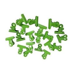 Metal Bulldog Clips Binders Grip Clamps Paper Documents Organizer 20 Pack Green #OfficeSupplies