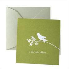 Little Birdy Enclosure Cards by Crane & Co.