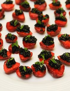 Oregon strawberries with sterling caviar, served by Jason Stoller Smith of Timberline Lodge - June 19 (Photo by Philip Gross)