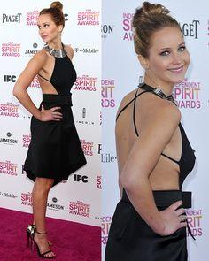 Jennifer Lawrence at the 2013 Film Independent Spirit Awards at Santa Monica Beach in Santa Monica, California, on February 23, 2013