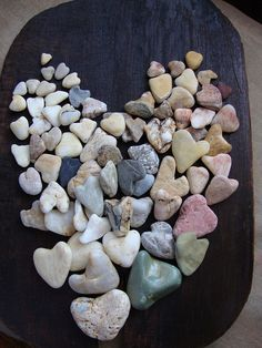 heart stones, but will they stay on this tray?