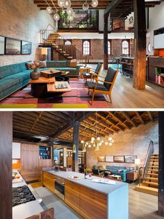 A Caviar Warehouse Converted Into A Loft By Andrew Franz Architect - via contemporist.com