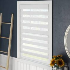 ODL Add on Blinds for Raised Framed Door Glass Room Darkening White Horizontal/Venetian Blind Tie Up Shades, Zebra Shades, White Washed Furniture, Painted Brick Walls, Solar Shades, Outdoor Sun Shade, Blinds For Windows, Window Blinds, House Blinds
