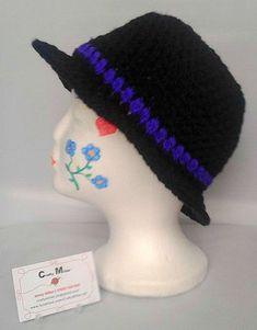 31132ff15367f Fedora Hat Crochet Boys Hat Vintage Hat Wide brimmed Retro Hat Fashion  Trilby gift for men