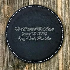 Need a simple idea for groomsmen gifts or wedding favors? We can do these leatherette coasters in one-off designs, or get a nice discount if you need a bunch of identical ones. Wedding Gifts For Men, Best Gifts For Men, Wedding Favors, Cork Coasters, Custom Coasters, Wedding Advice, Wedding Planning, Wedding Season, Wedding Day