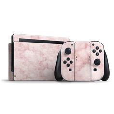 "Skinit's ""Blush Marble"" Switch Bundle Skin design captures the classic essence of the marble texture combined with the the delicate hues of a trendy blush color palette. The ""Blush Marble"" Skin will provide your Switch Bundle with premium protection again Nintendo Switch Accessories, Gaming Accessories, Gameboy Iphone, Style Kawaii, Blush Color Palette, Nintendo Switch Case, Things To Buy, Stuff To Buy, Marble Texture"
