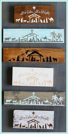 DIY Nativity Board Craft - a how-to tutorial - - sugar bee crafts