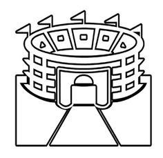 pictures stadium super bowl coloring pages