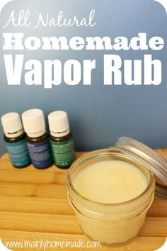 This stuff works! All natural Homemade Vapor Rub recipe works as well as the over the counter stuff. All natural ingredients safe for skin and feet. Tons more homemade recipes on this site!