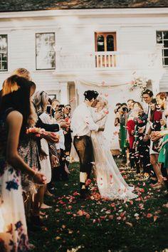 Olga and Chris' idyllic backyard wedding in Oregon will steal your heart away | Image by India Earl