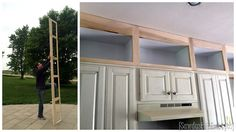 Building additional cabinets to extend up to the ceiling in kitchen {Sawdust and Embryos}
