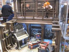 12th scale steampunk roombox with other steampunk items and character