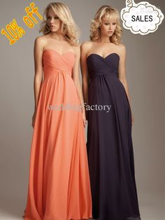 Wholesale Cheap Simple Sweetheart A-line Chiffon Coral Plum Long Bridesmaids Dress Evening Gown Supplier, Free shipping, $72.8-78.4/Piece | DHgate
