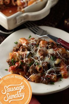 Baked Ziti with Italian Sausage- Enjoy the best day of the week with your family by making baked ziti with meat sauce. And by meat, we mean delicious Johnsonville Sausage. It's a simple swap that elevates the flavor of a classic dish!