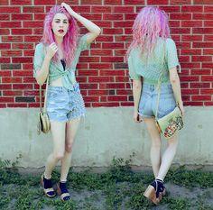 Polka Dot Blouse, Bajuesbest Studded Shorts