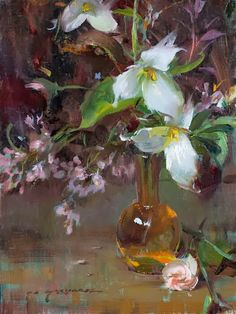 Daniel Gerhartz | American Painter | Ladies and Flowers