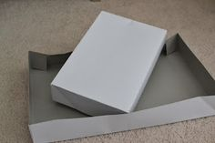 How to make a whole box out of a shirt box lid or bottom - LaForce Be With You