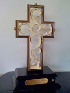 White and Gold Unity Cross Wedding Ceremony