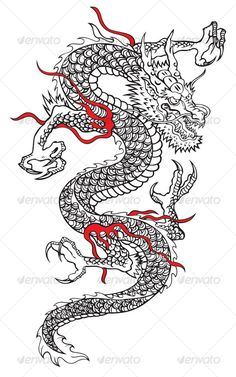 Japanese dragon — Vector EPS #power #success • Available here → https://graphicriver.net/item/japanese-dragon/88474?ref=pxcr