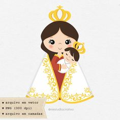 Our Lady of Nazareth Blessed Mother Mary, Blessed Virgin Mary, Kids Routine Chart, Jesus Cartoon, Corpus Christi, All Saints Day, Doll Patterns, Santa, Clip Art
