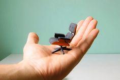 Cadeiras de design em miniatura
