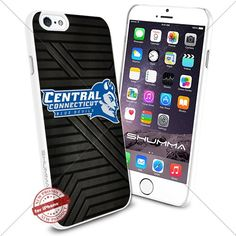 """NCAA Central Connecticut Blue Devils iPhone 6 4.7"""" Case Cover Protector for iPhone 6 TPU Rubber Case White SHUMMA http://www.amazon.com/dp/B0176HBEF4/ref=cm_sw_r_pi_dp_LmiWwb04EPBVK"""