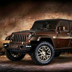 "The Jeep Wrangler ""Sundancer"" concept edition.... shown recently at the Beijing Auto Show... Chocolate Brown with Gold Accents- Love it!  :)"