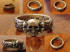 German WW2 Ring Skull Head Totenkopf SS 1942 H.Himmler - $249.00 #onselz