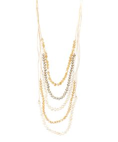 Another great find on #zulily! White Pearl & Brown Bead Layered Necklace by PANNEE JEWELRY #zulilyfinds