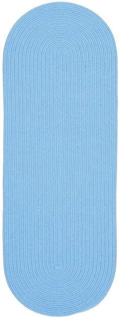 Happy Braids HB07 Aqua Blue Braided Rug