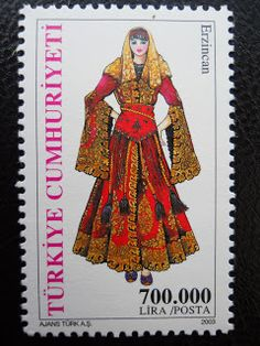Stamps, covers and postcards of traditional/folk costumes: Stamps / Costumes - Turkey / Turkija